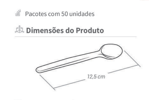 Colher Descartável de Plástico Sobremesa