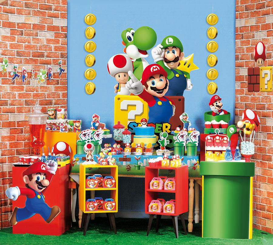 Decoração de Festa do Super Mario