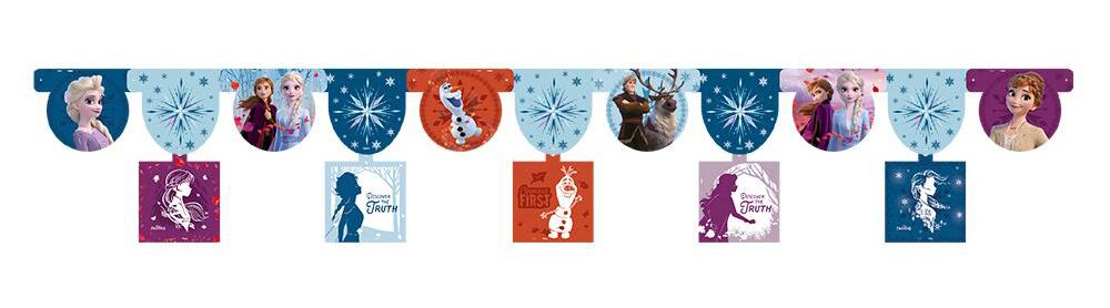 Faixa decorativa de Festas da Frozen 2