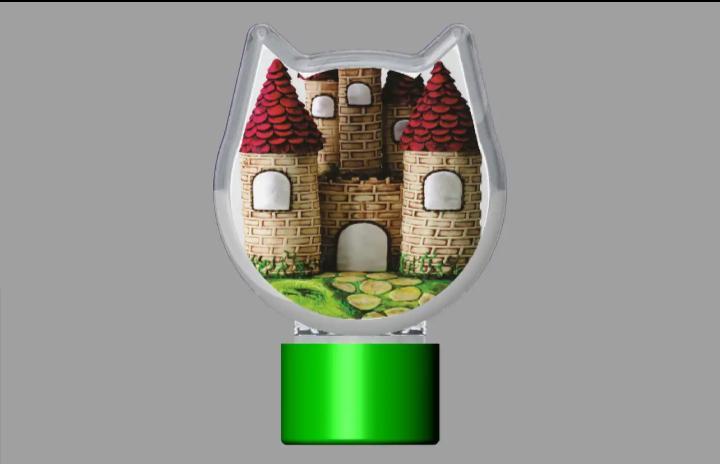 tubete e mini baleiro de castelo