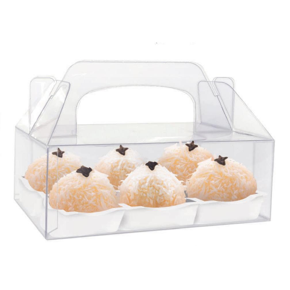 Caixa de Acetato para doces com alça