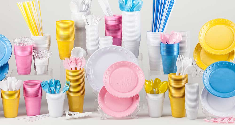 Embalagens descartáveis para festas