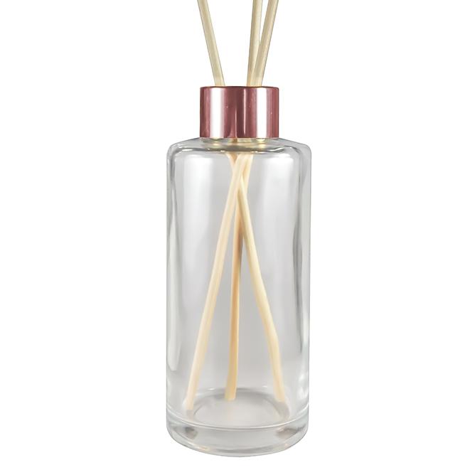 frasco de vidro para aromatizador 200 ml luxo rose