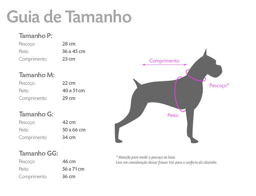 Tabela de tamanhos Yo Dog ~ Petite Sofie