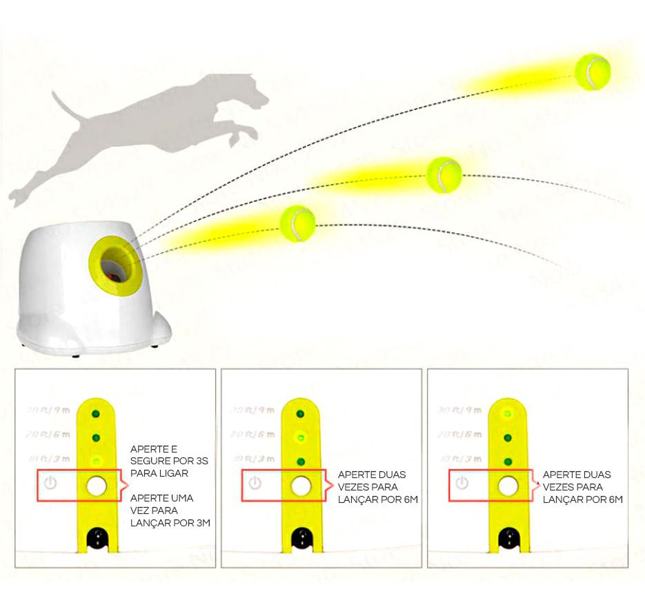 Configurações do Lançador de Bolinhas Hyper Fetch AFP - Petite Sofie