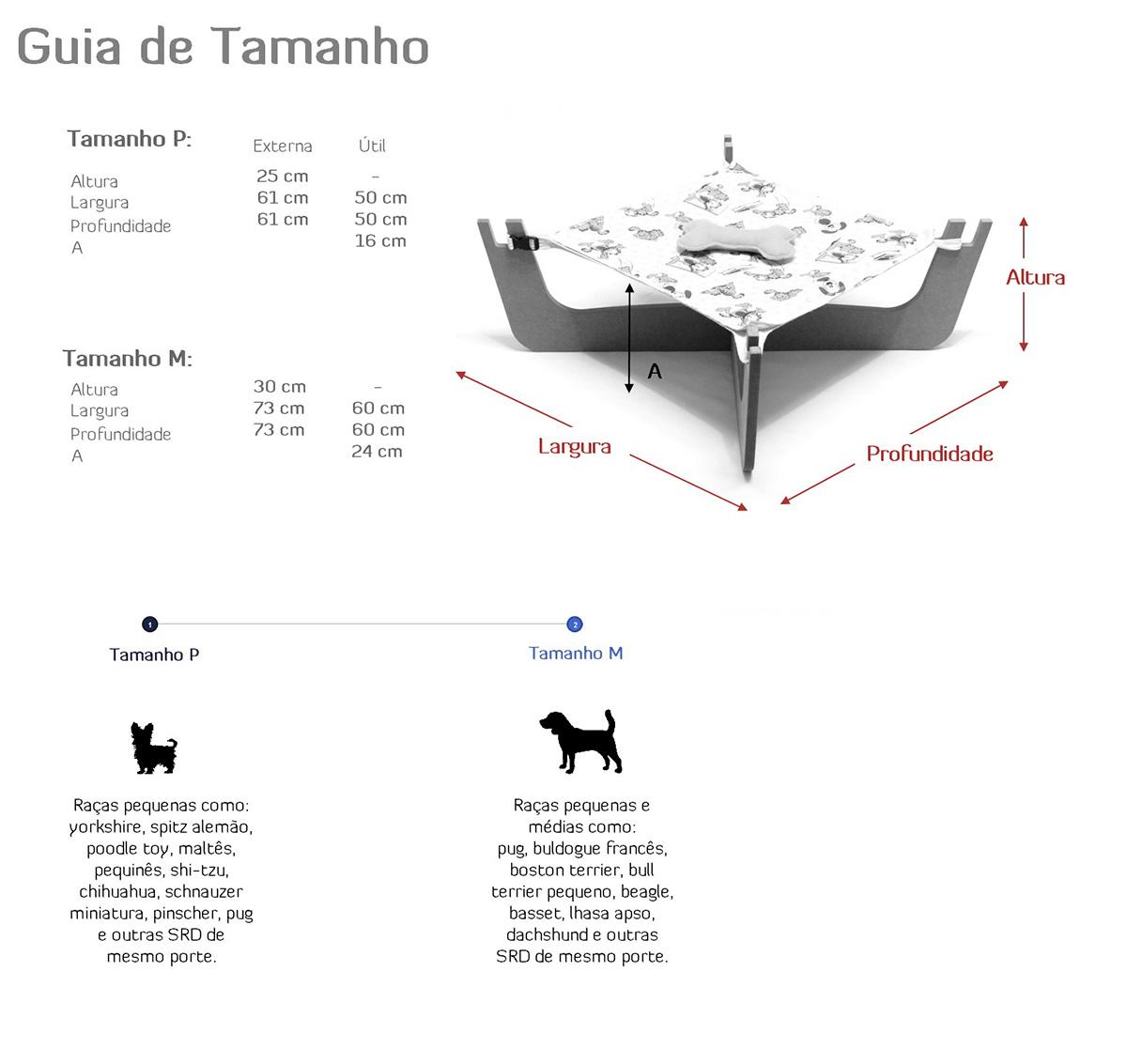 Medidas Cama Suspensa Step Dog ~ Petite Sofie