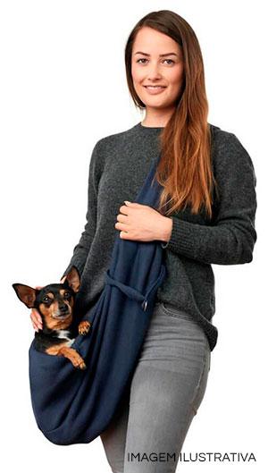 Mulher com bolsa sling pet ~ Petite Sofie