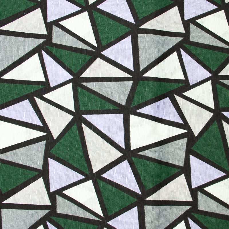 Tecido Gorgurinho - Vitral Verde Cinza e Branco - 50cm x 150cm