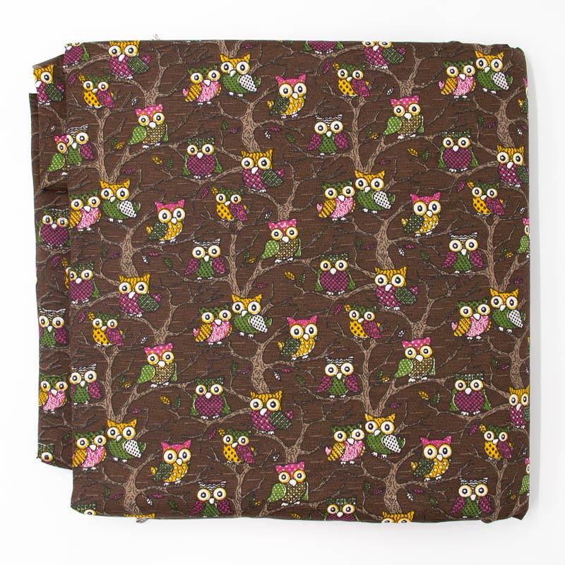 Tecido Gorgurão - Folhas em Tons de Cinza - 50cm x 150cm