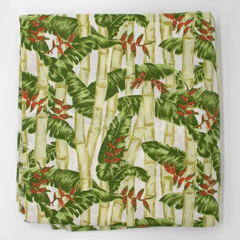 Tecido Gorgurão - Floresta de Bambus - 50cm x 150cm