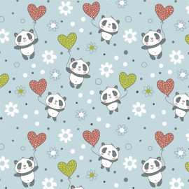 Fabricart - Panda Balões - 50cm x 150cm
