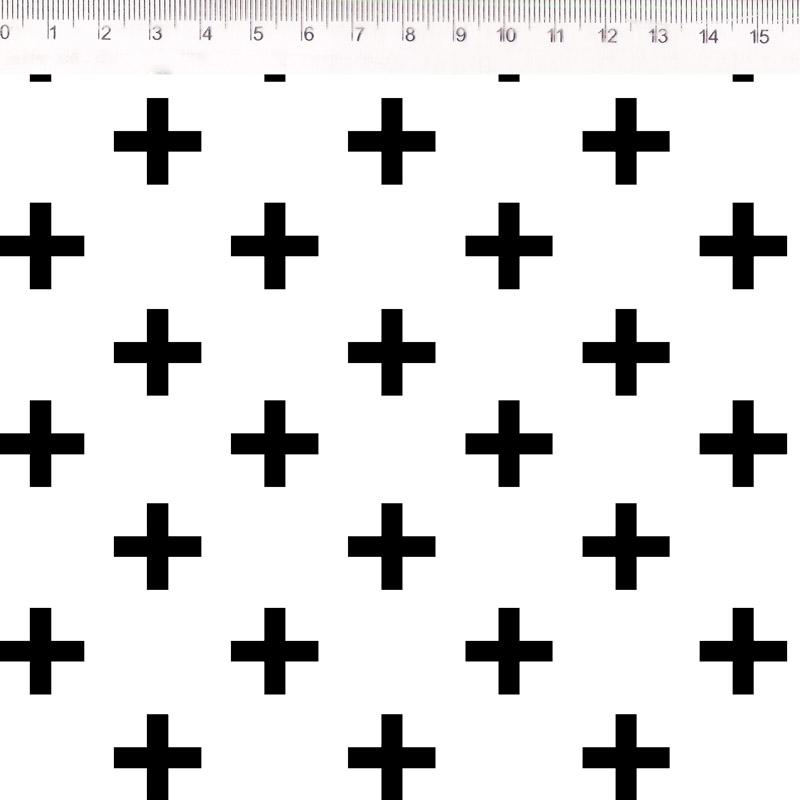 Fernando Maluhy - Coleção Monochrome - Cross Preto - 50cm X150cm