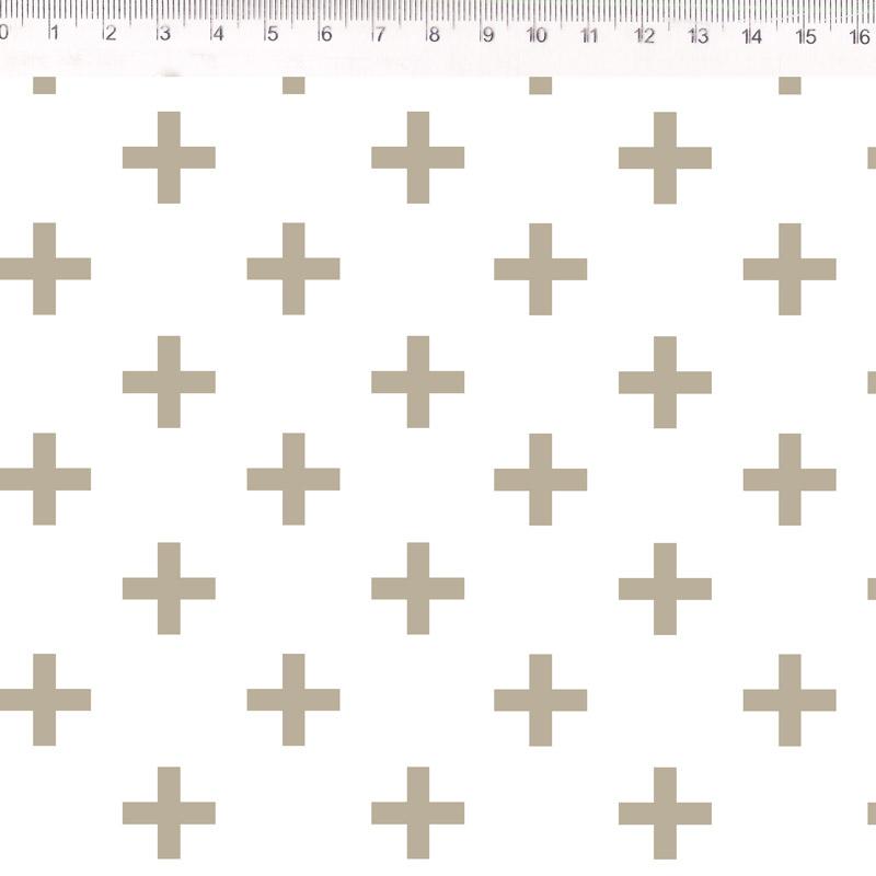 Fernando Maluhy - Coleção Monochrome - Cross Bege - 50cm X150cm