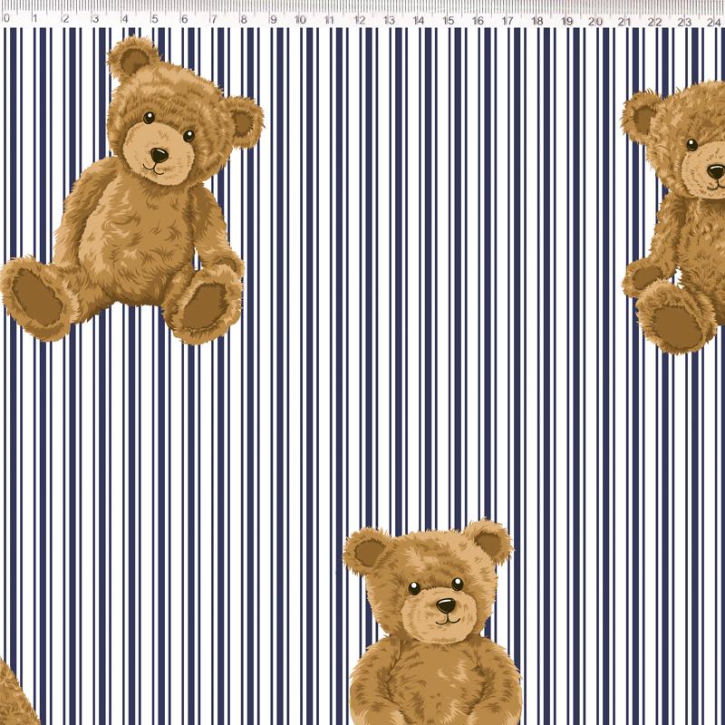 Fernando Maluhy - Urso Com Listra Marinho - 50cm X150cm