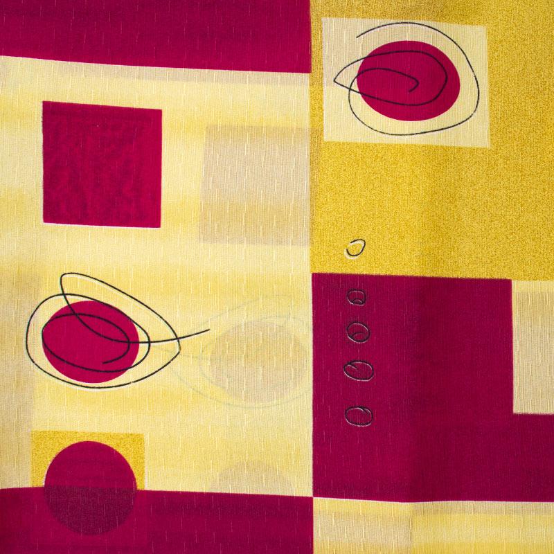 Tecido Gorgurinho - Abstrato Vermelho/ Amarelo - 50cm x 150cm