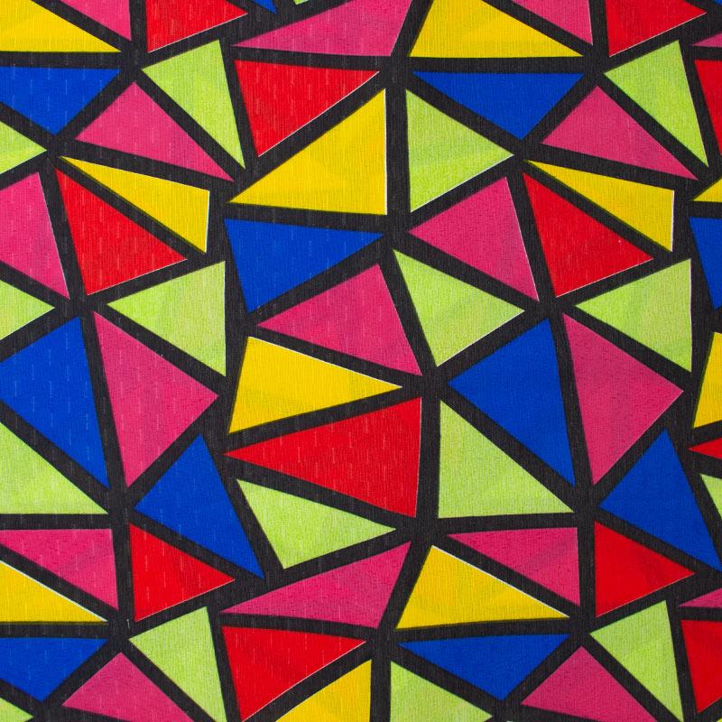 Tecido Gorgurinho - Vitral Azul/Amarelo/Rosa/Verde/Vermelho - 50cm x 150cm