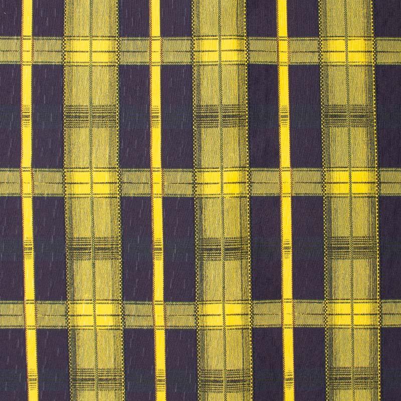Tecido Gorgurinho - Xadrez Roxo/Amarelo- 50cm x 150cm
