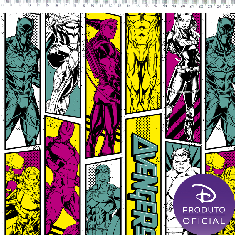 Fernando Maluhy - Coleção Marvel - Vingadores Os heróis - 50cm X150cm
