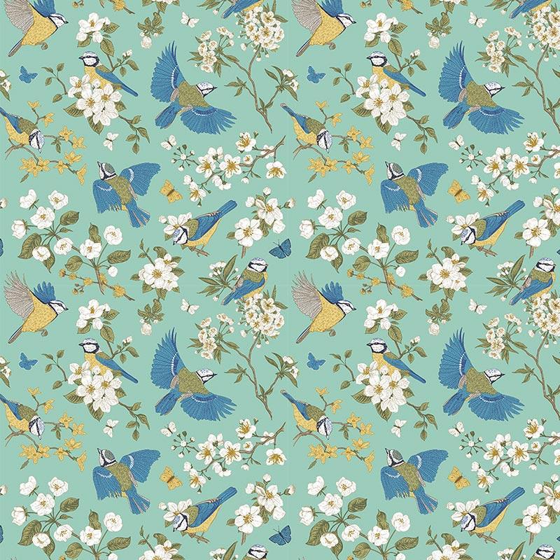 Fabricart - Coleção 116 Colors - Blues Birds - 50cm X150cm
