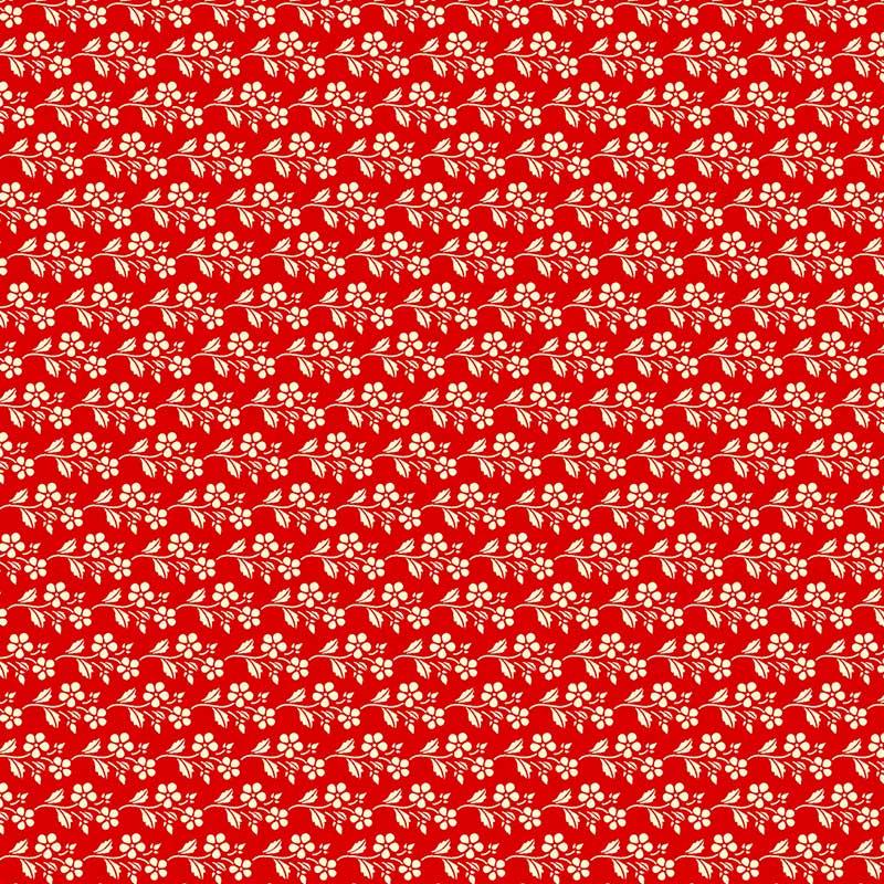 Fabricart Coleção Cherry Roses - Cherry Blossom Red  - 50cm X150cm