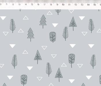Fernando Maluhy - Coleção Inspiração Escandinávia - Árvore Com Fundo Cinza - 50cm X150cm