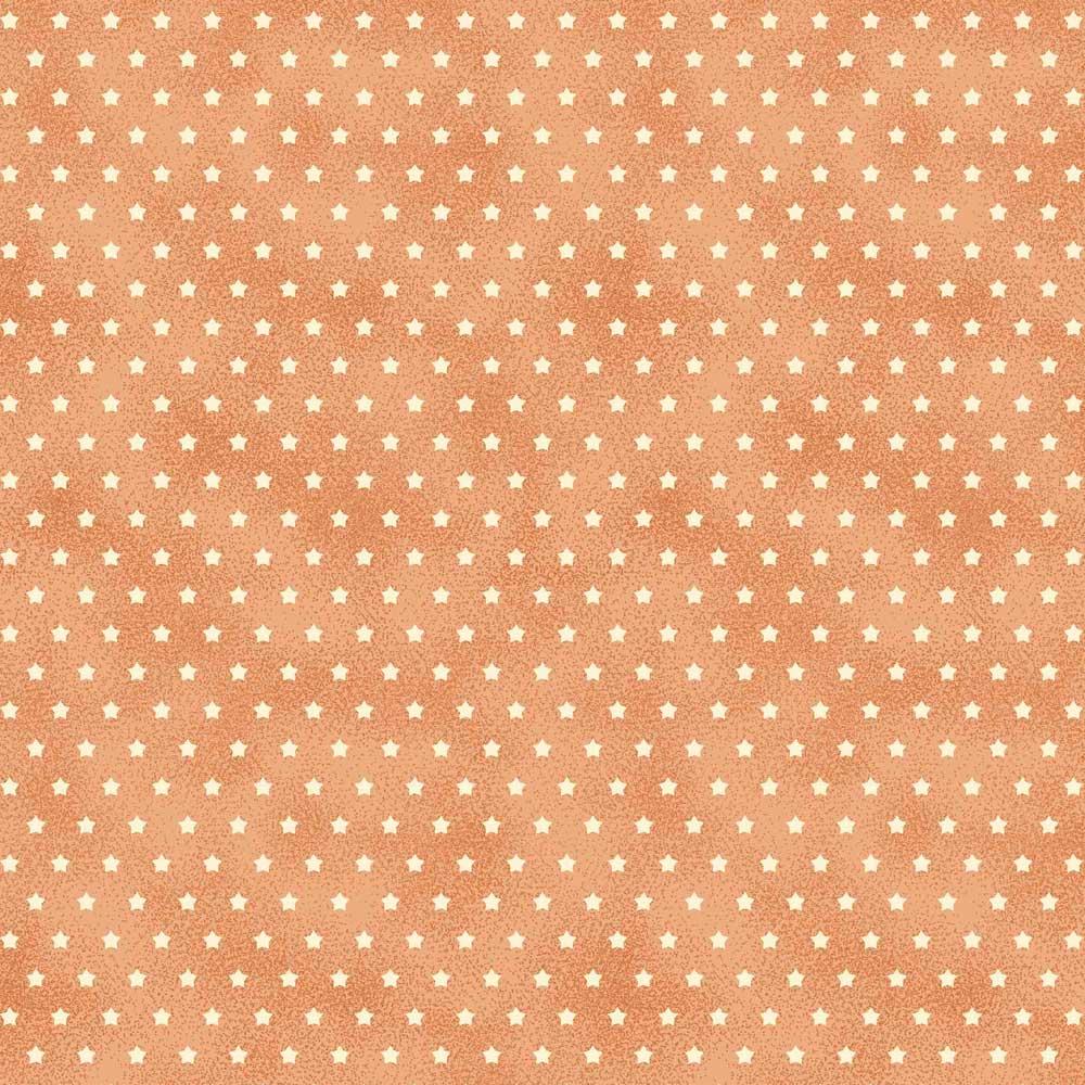 Fabricart Coleção Estrelinhas Country - Estrelinha Pêssego - 50cm X150cm