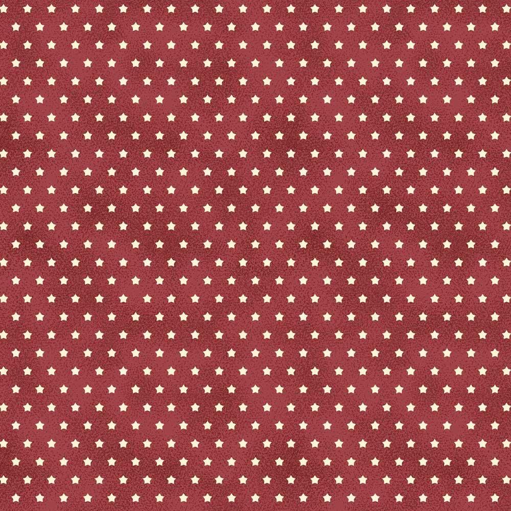 Fabricart Coleção Estrelinhas Country - Estrelinha Tijolo - 50cm X150cm