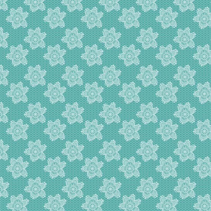 Fabricart Coleção Jardim das Flores - Flores Rendadas Tiffany  - 50cm X150cm