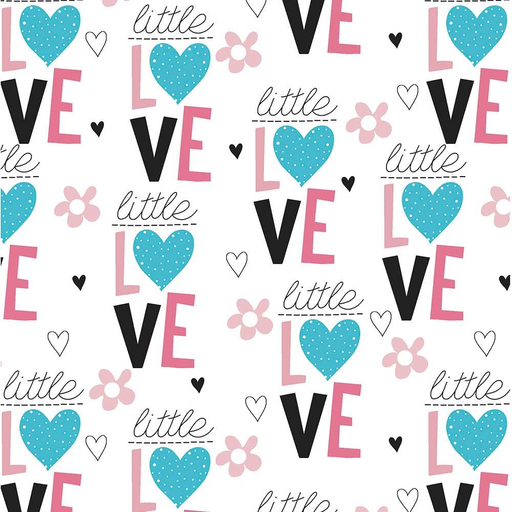 Fabricart Signature - Coleção Peace And Love - Little Love - 50cm X150cm