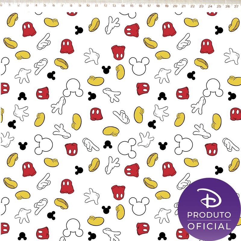 Fernando Maluhy - Coleção Disney - Minnie Mouse - Guarda Roupa Mickey Fundo Branco -  50cm X 150cm