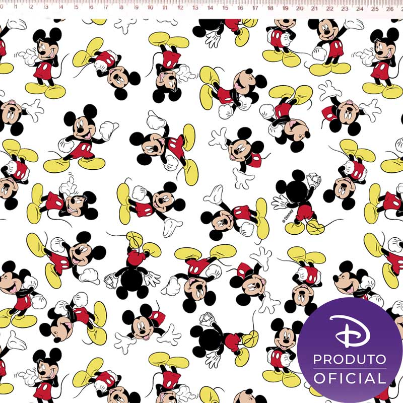 Fernando Maluhy - Coleção Disney - Mickey Mouse - Fundo Branco -  50cm X 150cm