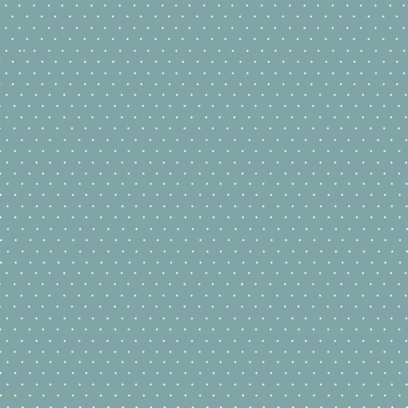 Fabricart Coleção Basics & Colors - Poás - Micro Poá Jade - 50cm X150cm