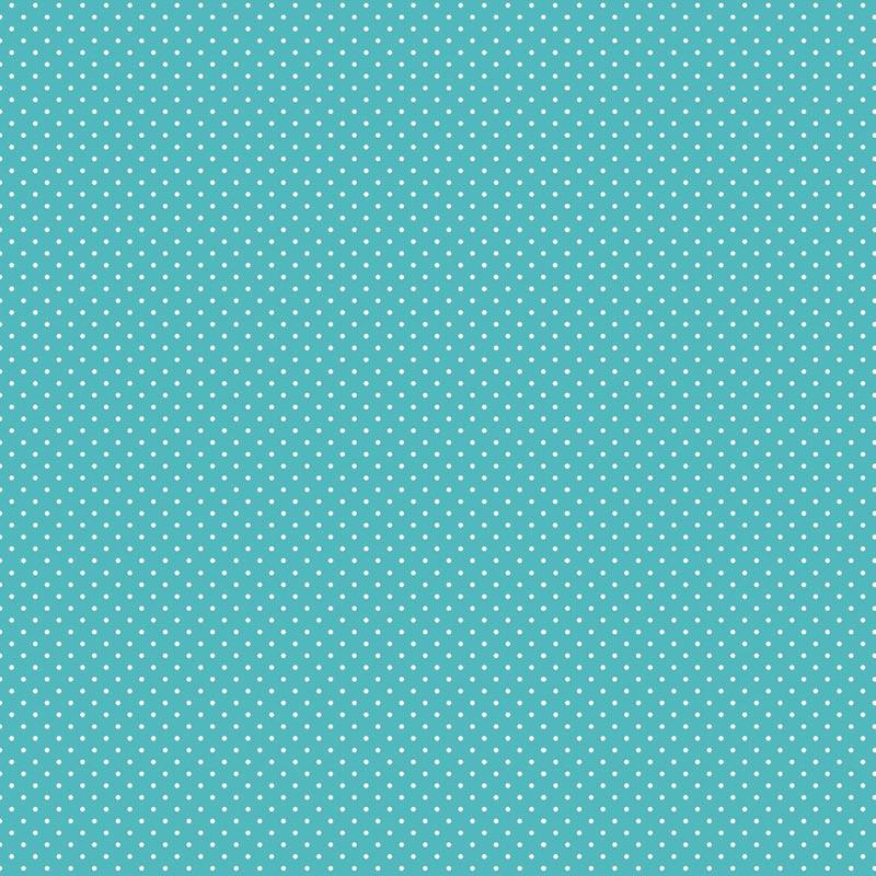 Fabricart Signature - Coleção Shabby - Micro Poá Azul Cristal - 50cm X150cm