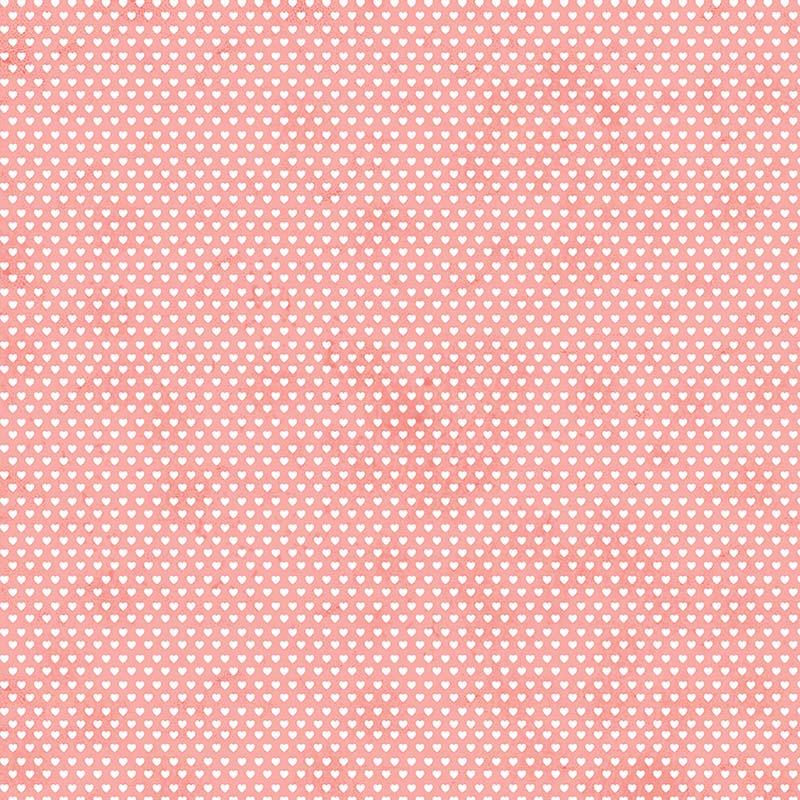 Fabricart Coleção Mini  Corações - Mini Corações Rose - 50cm X150cm