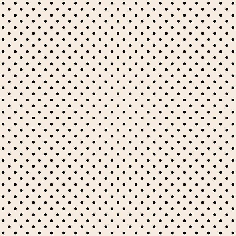 Fabricart Coleção Basics & Colors - Poás - Mini Poá Preto - 50cm X150cm