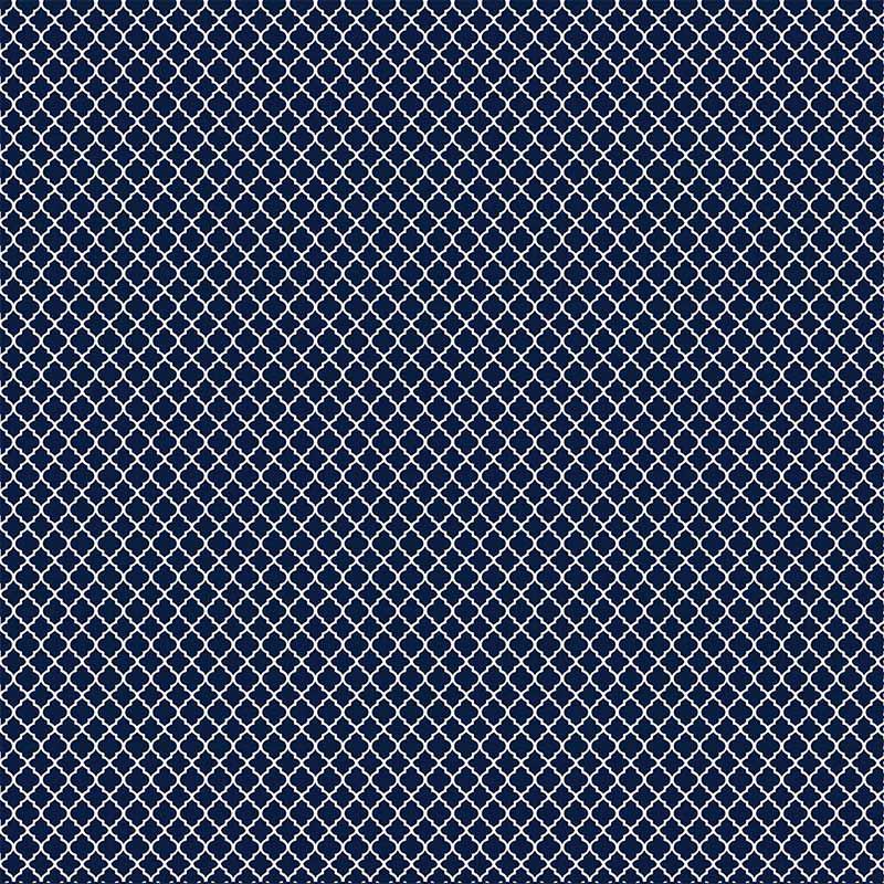 Fabricart Coleção Basics & Colors - Geométricos - Mini Vitral Marinho - 50cm X150cm
