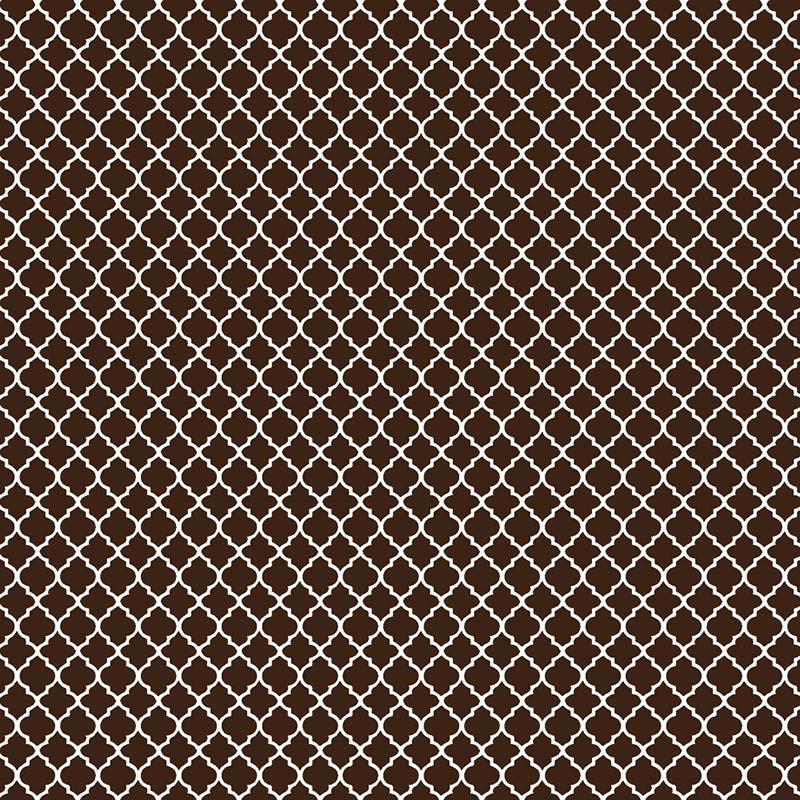 Fabricart Coleção Basics & Colors - Geométricos - Mini Vitral Marrom - 50cm X150cm