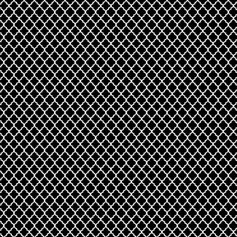 Fabricart Coleção Basics & Colors - Geométricos - Mini Vitral Preto - 50cm X150cm