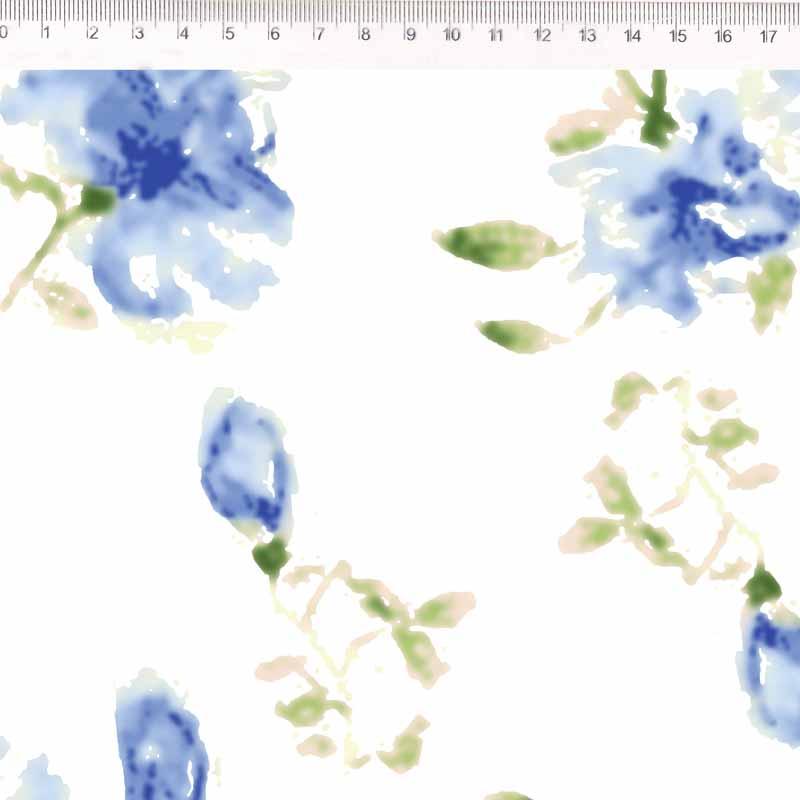 Fernando Maluhy - Põe Na Mesa Decor - Flor Azul - 50cm X150cm
