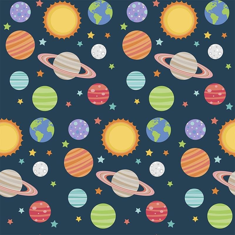 Fabricart Signature - Coleção Espacial - Planetas - 50cm X150cm