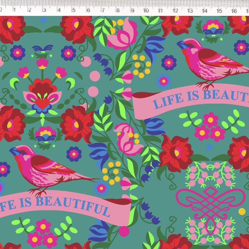 Fernando Maluhy - Coleção Renata -Floral com Pássaro - 50cm X150cm
