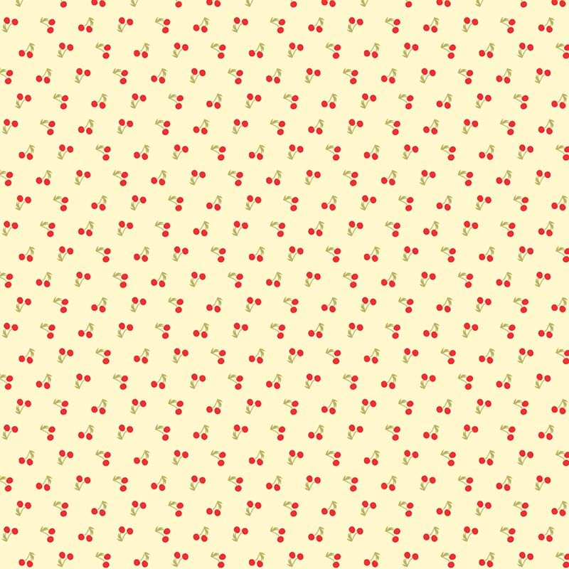 Fabricart Coleção Cherry Roses - Tiny Cherry - 50cm X150cm