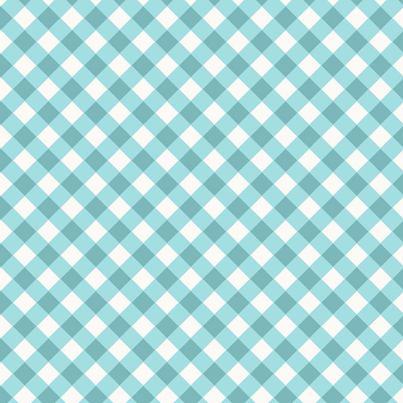 Fabricart Signature - Coleção Shabby - Xadrez Azul Cristal - 50cm X150cm