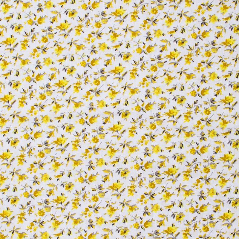Caldeira - Flores Amarelas Fundo Cinza - 50cm x 150cm