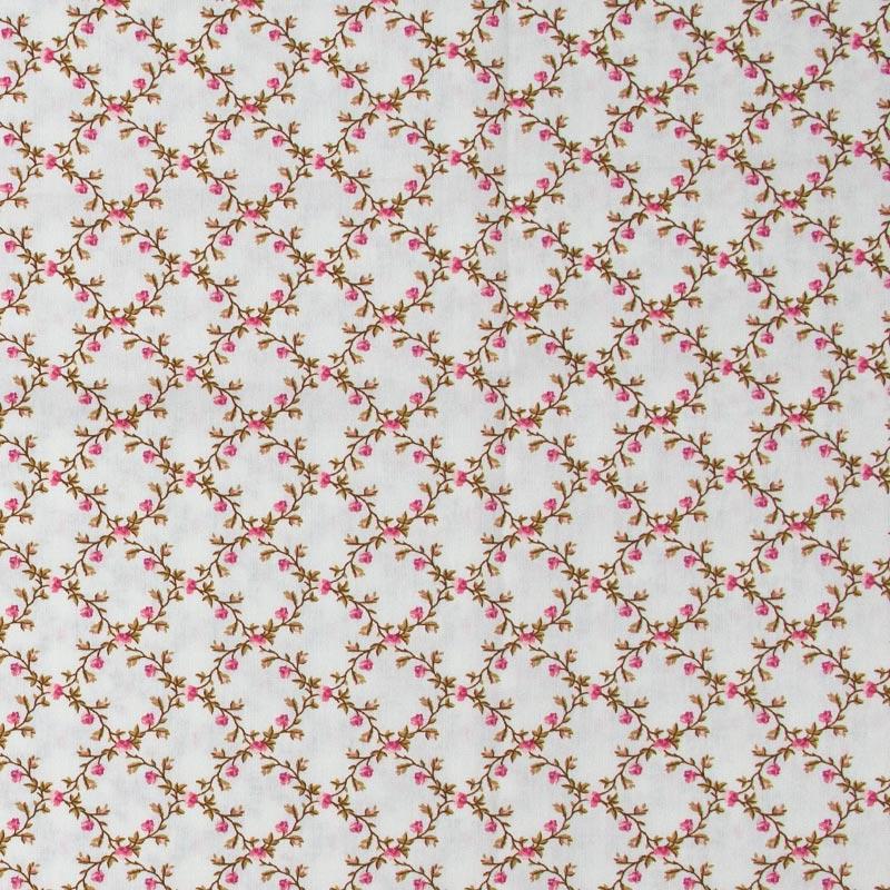 Caldeira -Rosas Rose Cruzadas Fundo Cinza - 50cm x 150cm