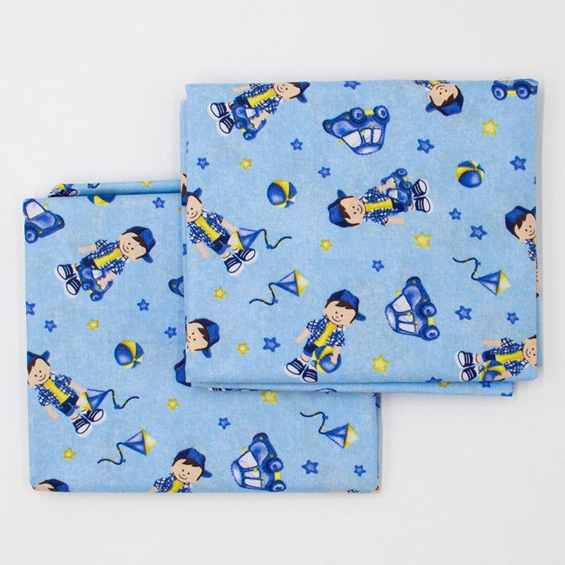 Caldeira - Estampa Joâozinho cor Azul - 50cm x 150cm