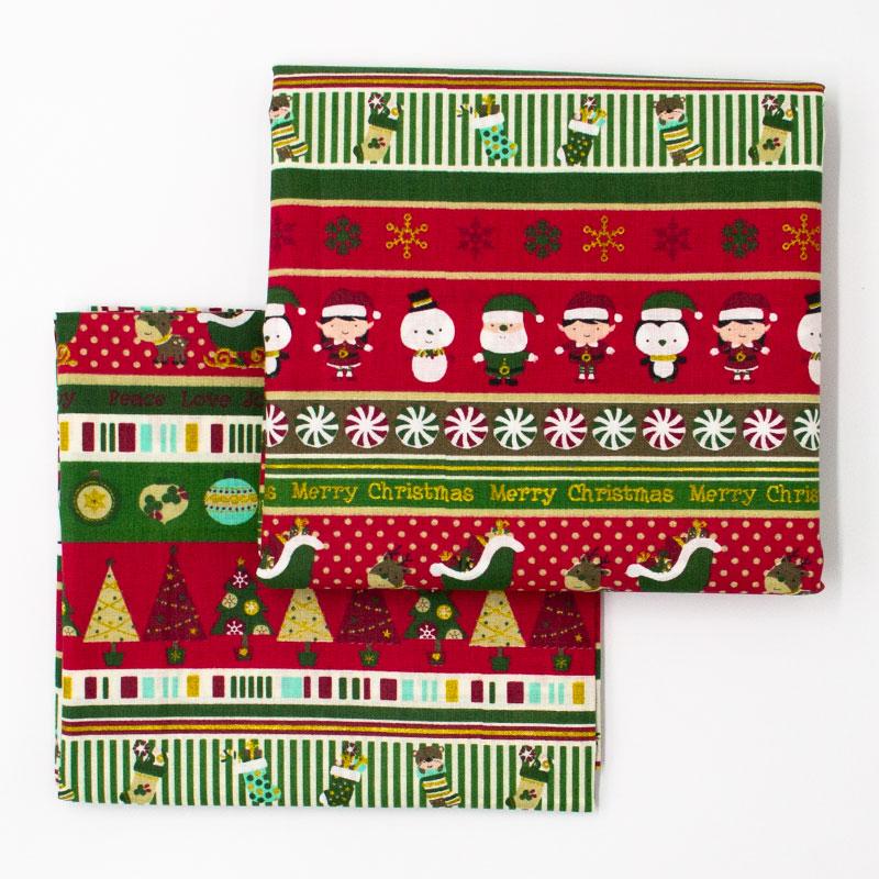 Caldeira - Coleção Natal - Natal em Faixas Vermelho - 50cm X150cm