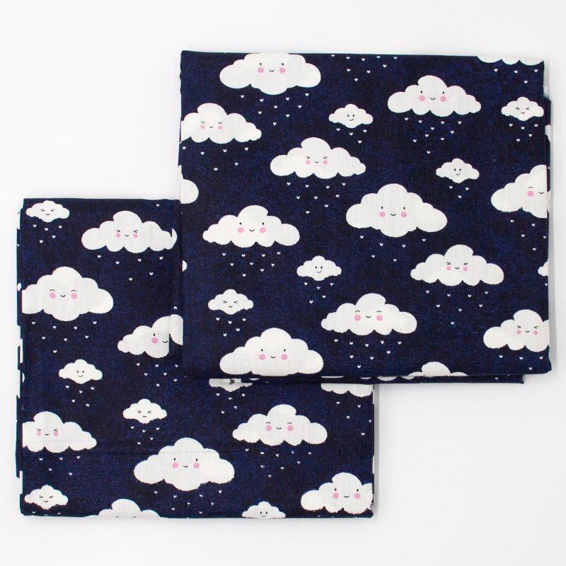 Caldeira - Estampa Nuvens Fundo Marinho - 50cm x 150cm