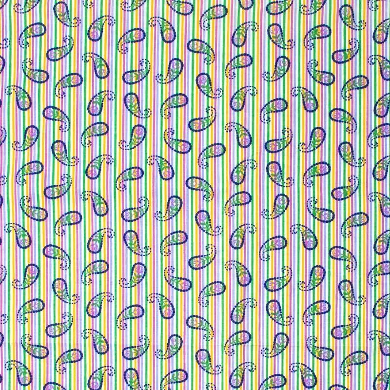 Listras Coloridas Com Cashmere -  50cm X150cm