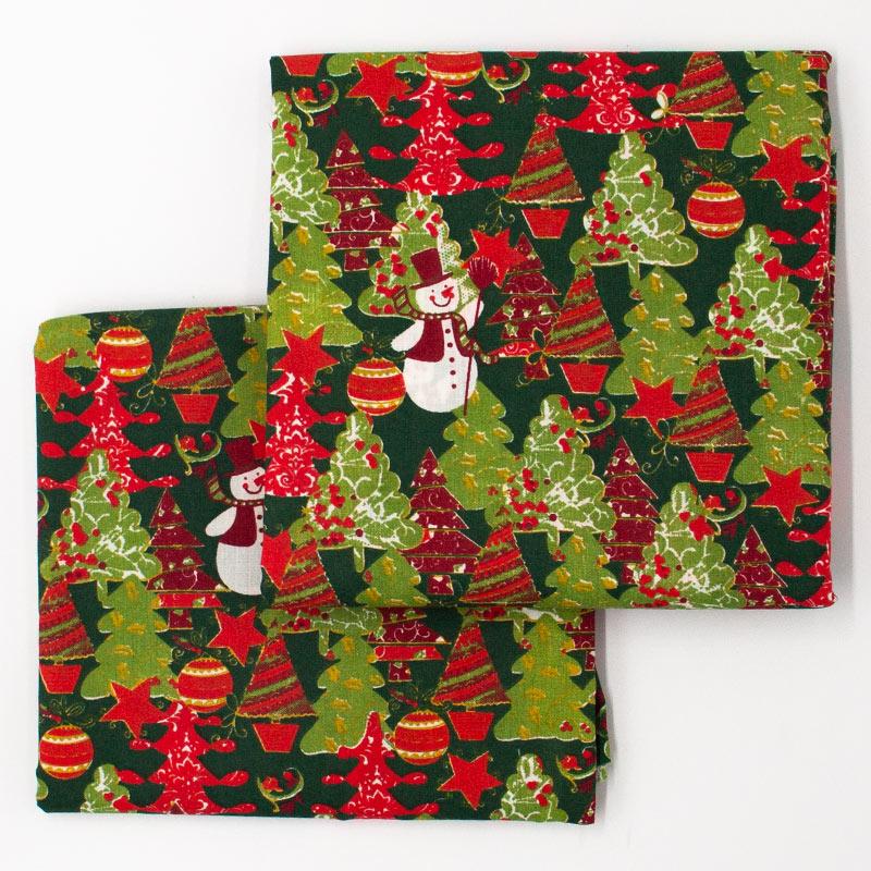 Catarinense - Coleção Natal - Bonecosde Neve e  Árvores de Natal - 50cm X150cm